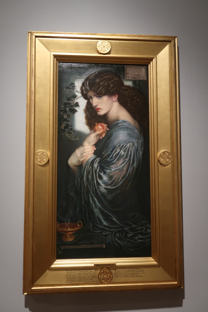 'Proserpine' - oil on canvas, c.1868. Dante Gabriel Rossetti.  Modelled by Jane Morris.